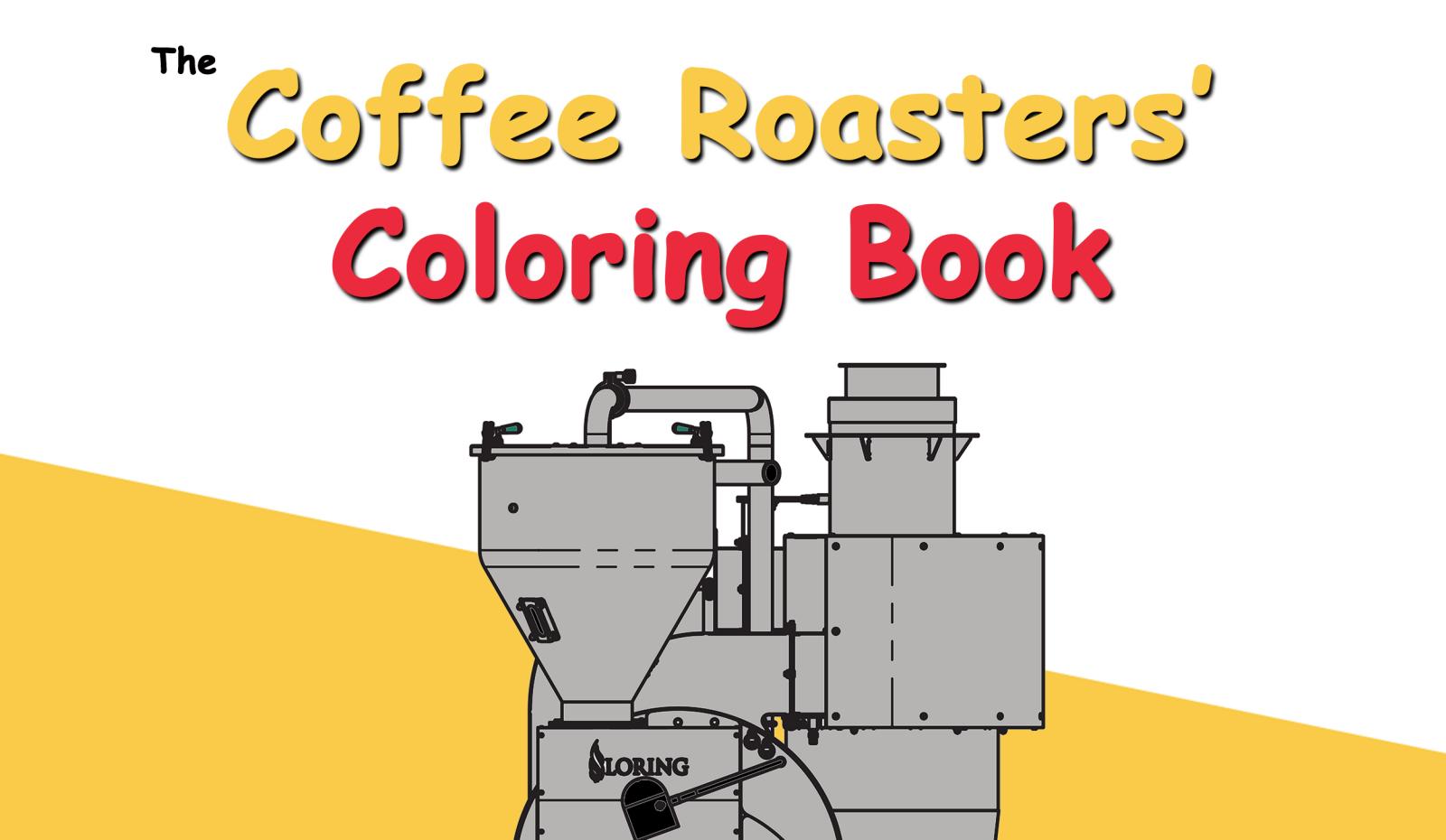 coffee roasters' coloring book