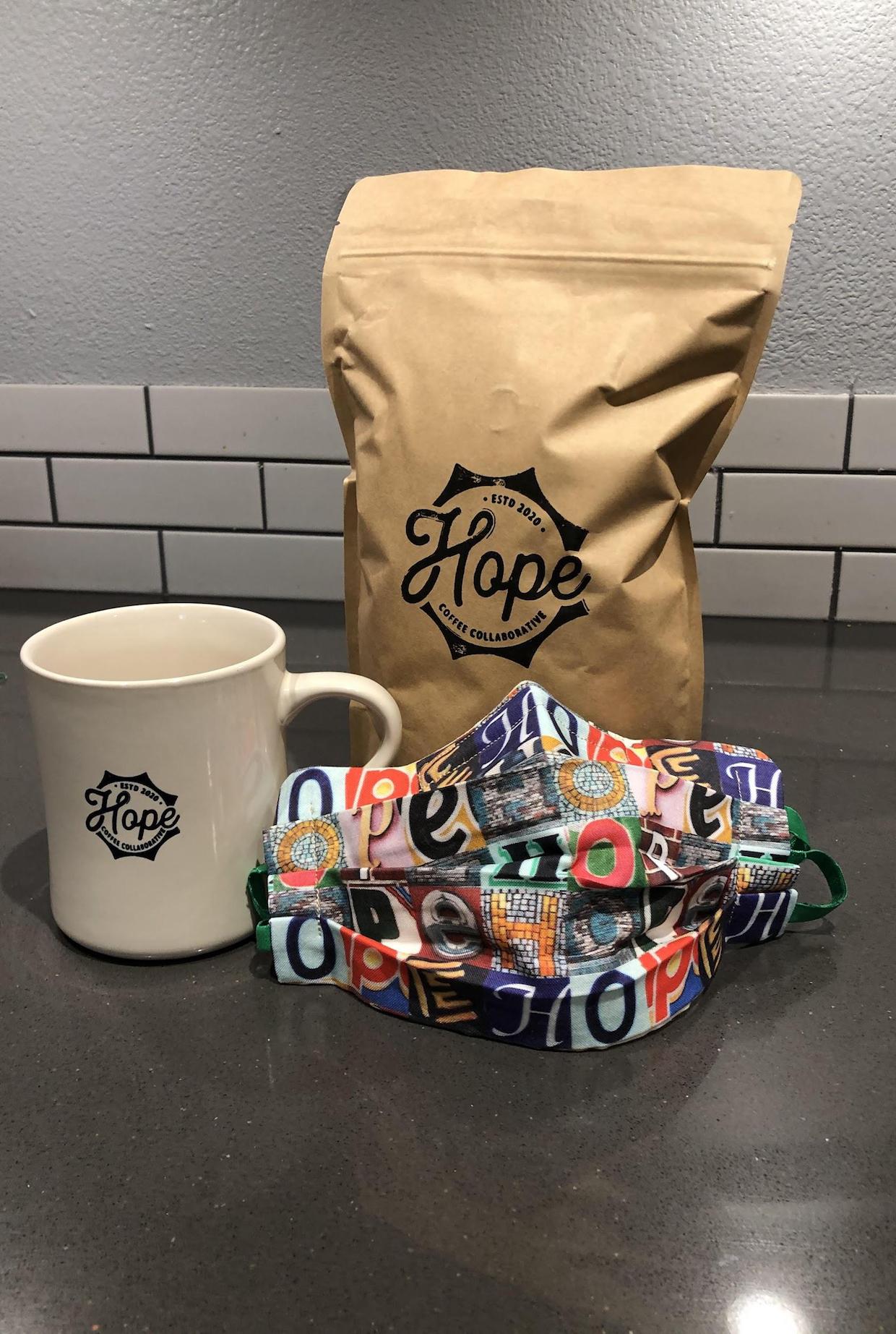 coffee mask and mug
