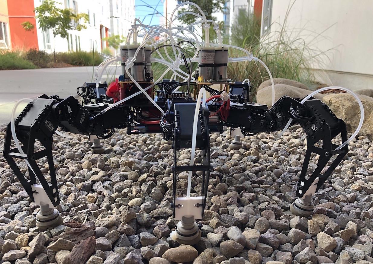 coffee feet on robot