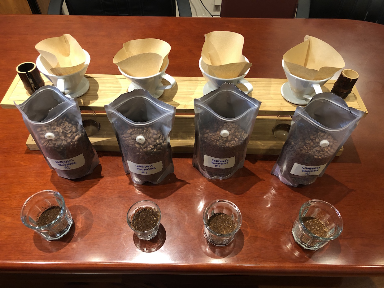 Coffee samples