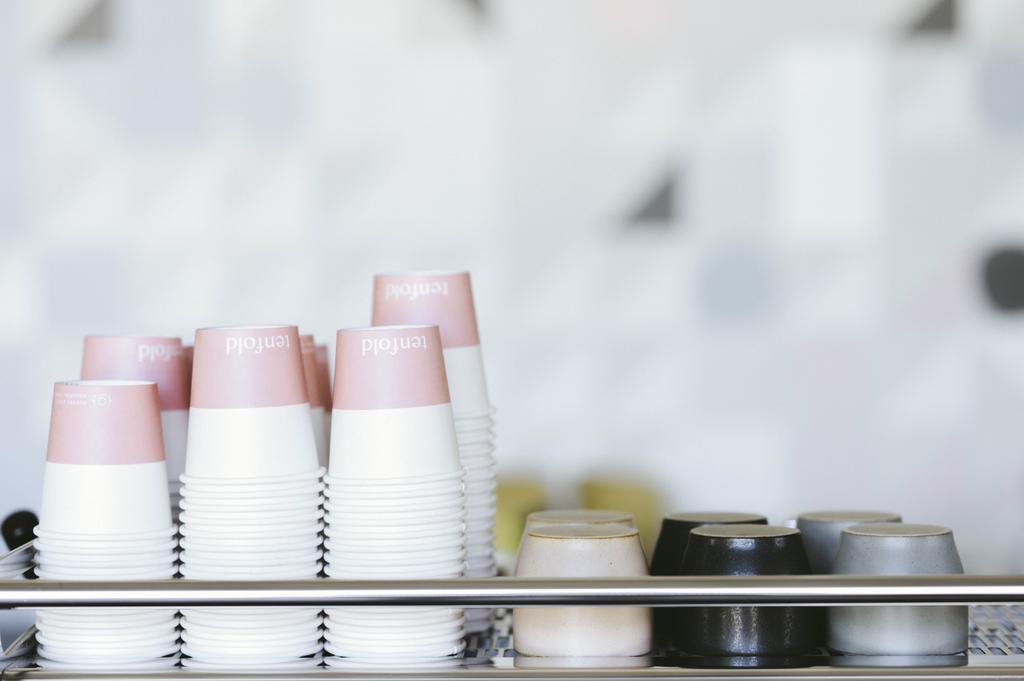 coffee cups on espresso