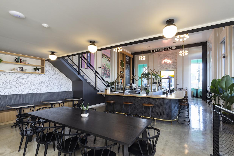 Inside Hilltop bar