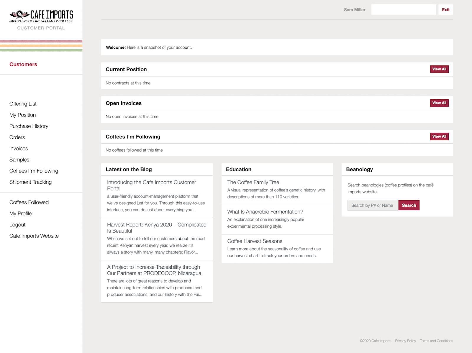 CI Portal – Dashboard