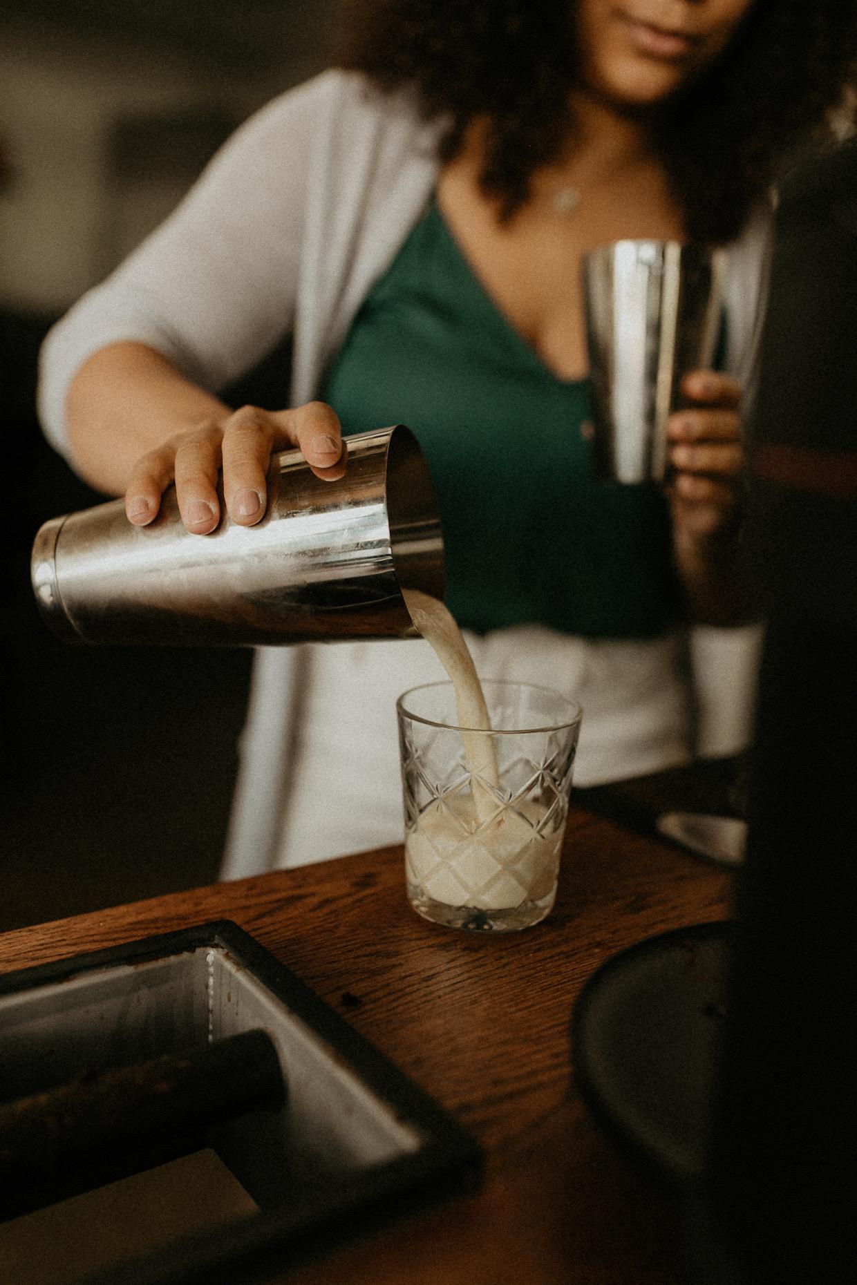 cold milk latte