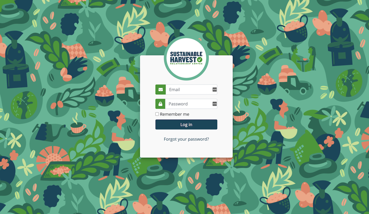 Sustainable Harvest Customer portal