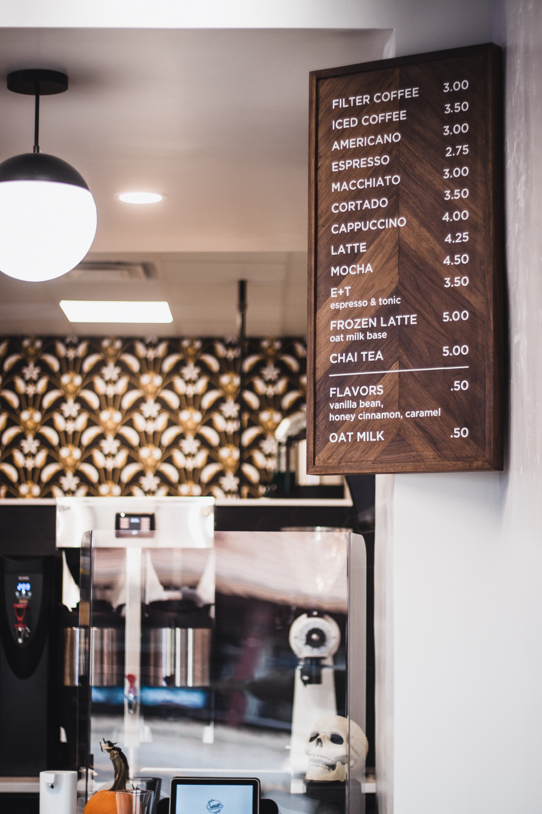 Sabbath coffee menu