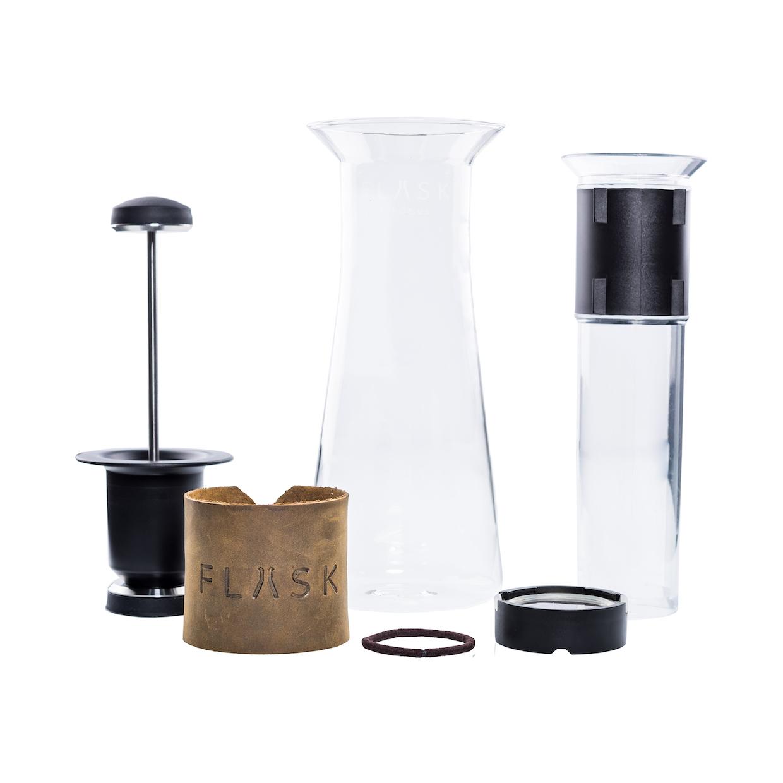 Flask coffee brewer