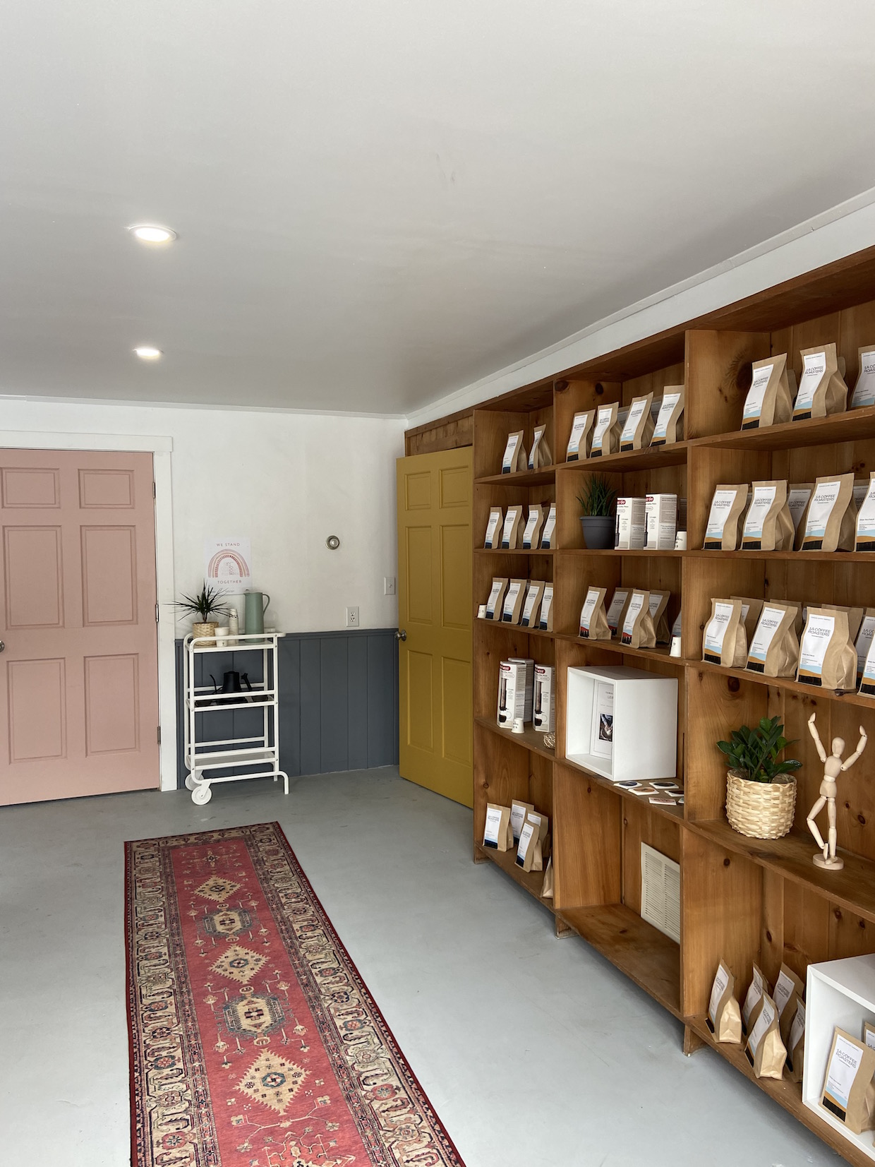 coffee retail wall