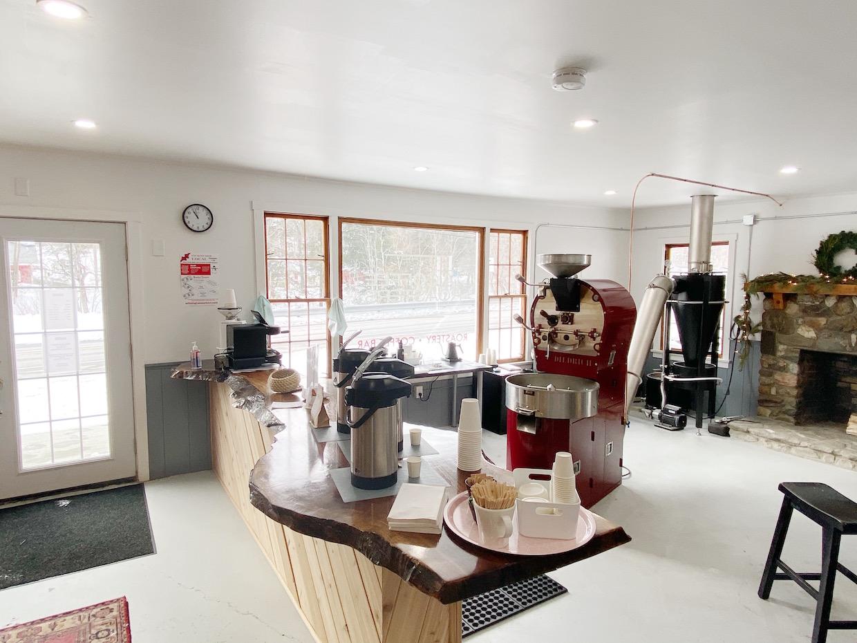 coffee roaster inside
