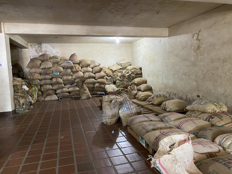 Coffee in sacks