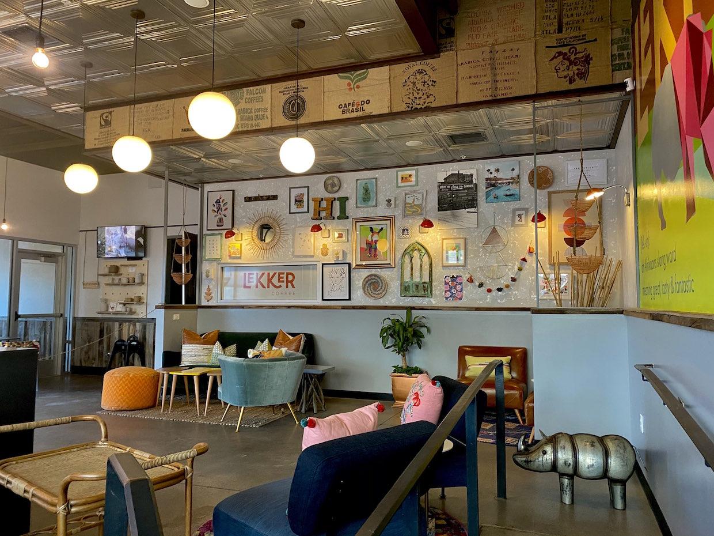 inside Lekker coffee shop