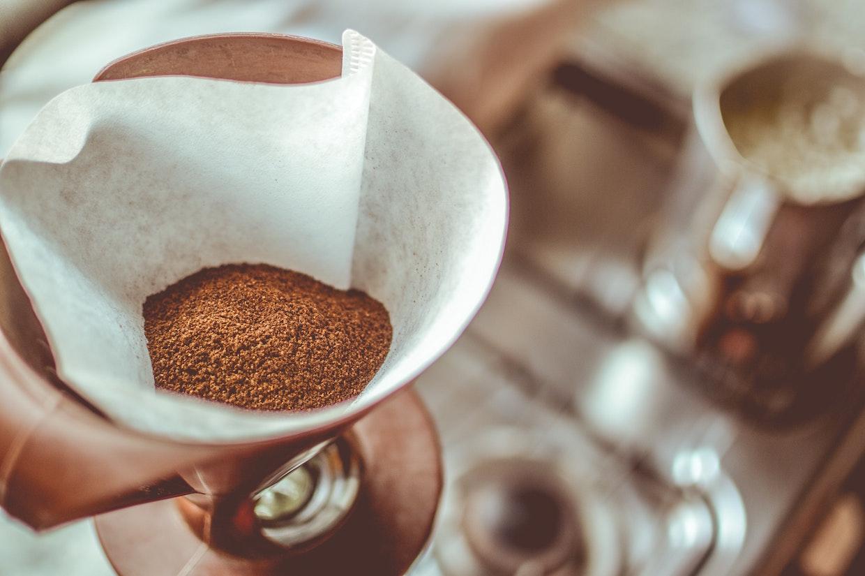 coffee grounds aroma