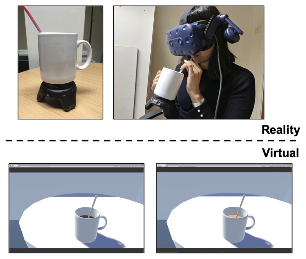 coffee and virtual reality