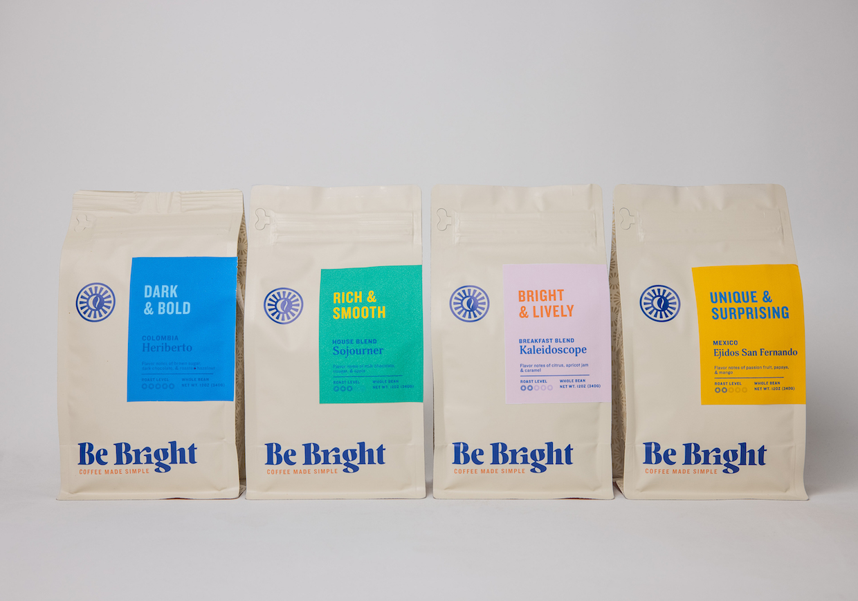Be Bright Coffee bags