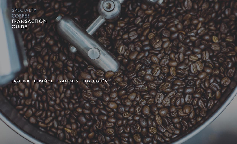 Guia de transações de cafés especiais