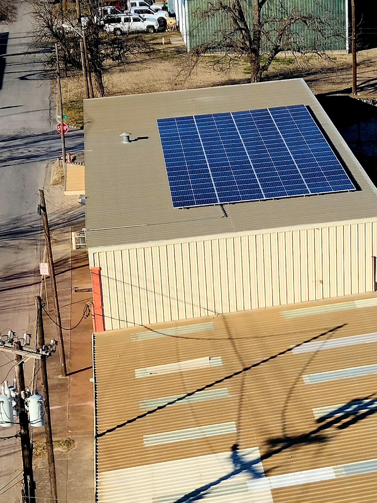 roastery solar panels