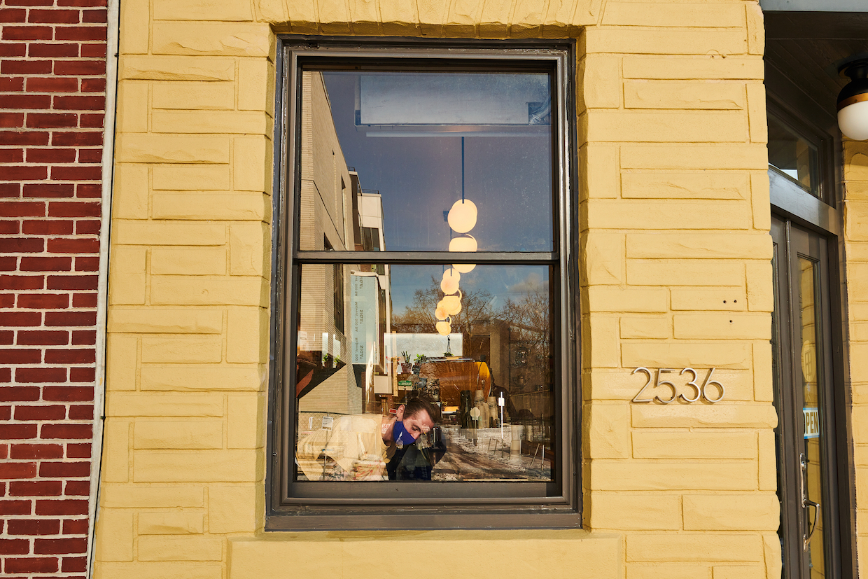 rowhome coffee window