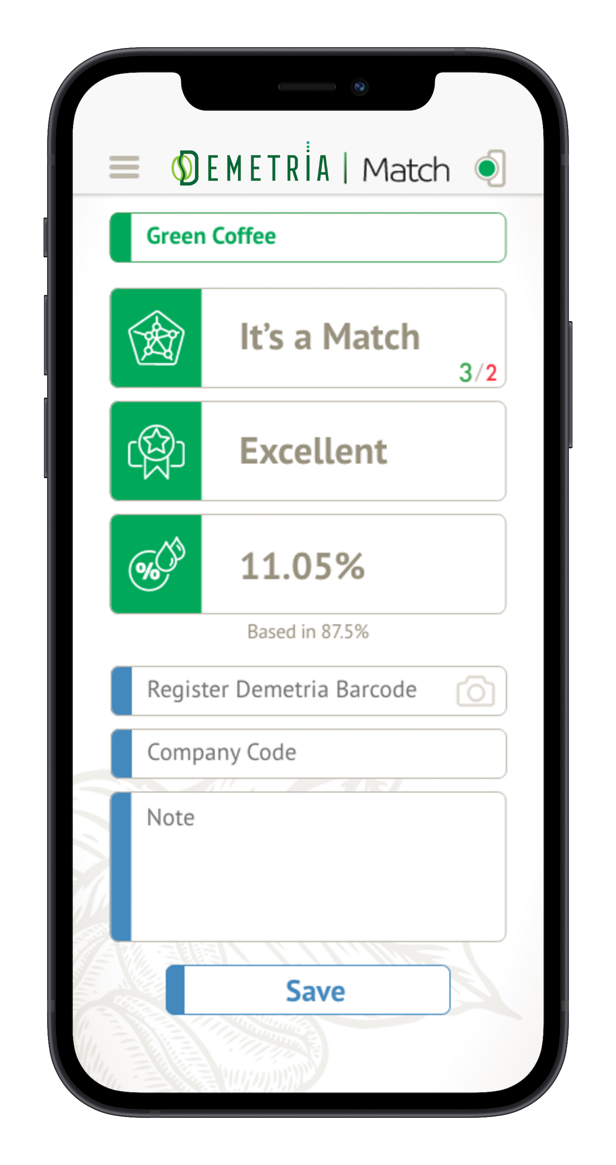 Demetria Match app 2