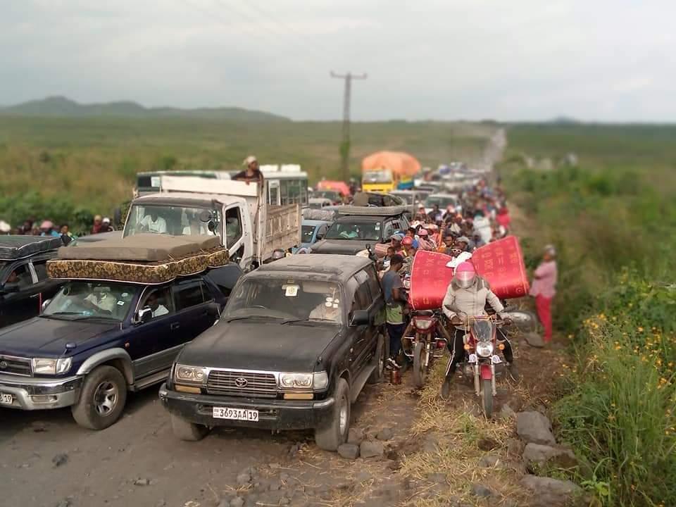 DRC fleeing