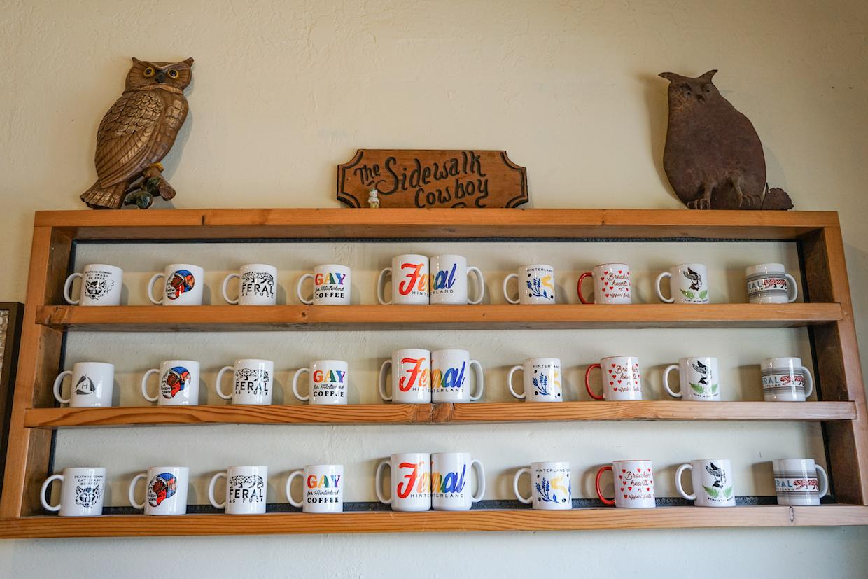 腹地咖啡杯