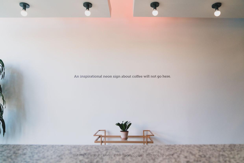 inspirational coffee sign