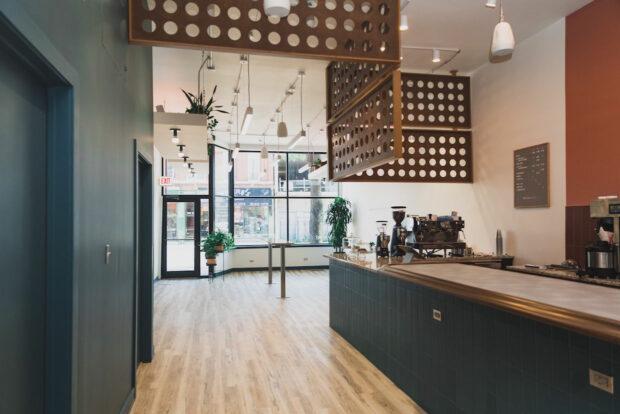 modern interior coffee shop