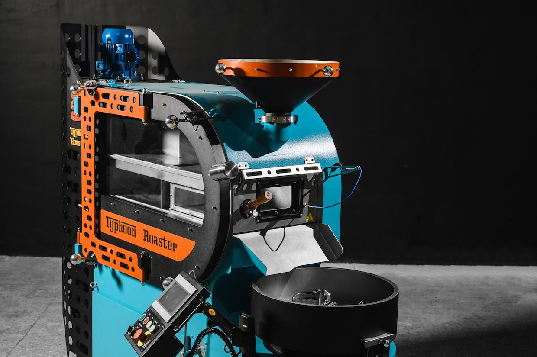 blue coffee roaster