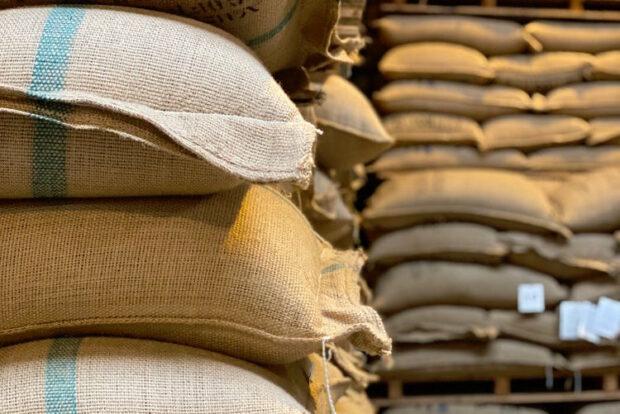 green coffee warehouse storage