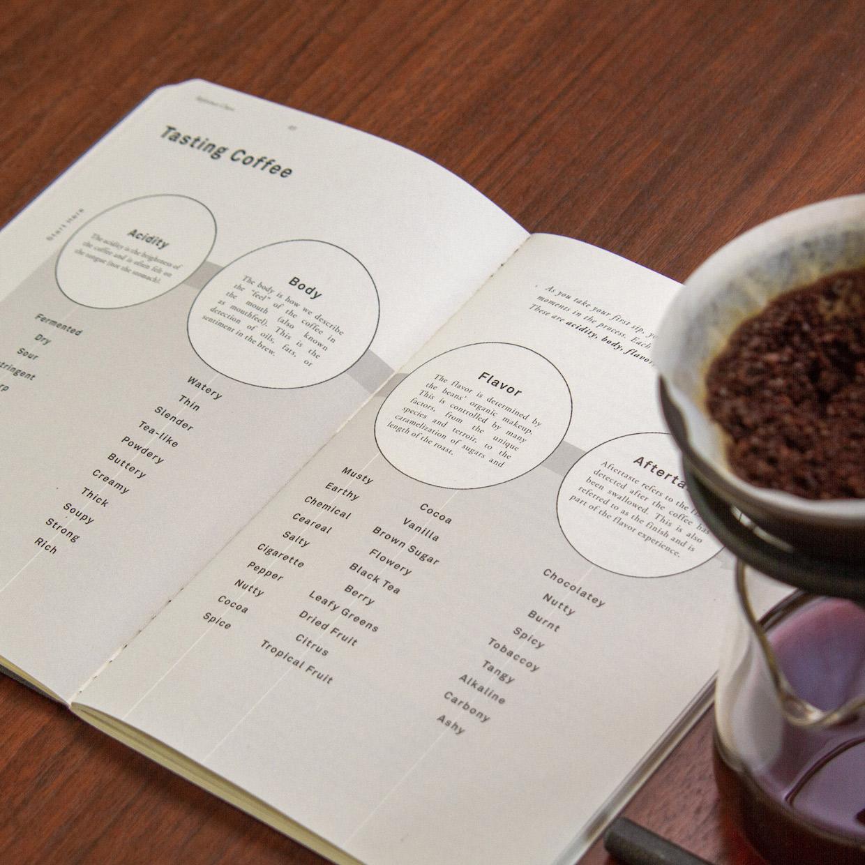 Coffee-Journal-tasting-spread-wood