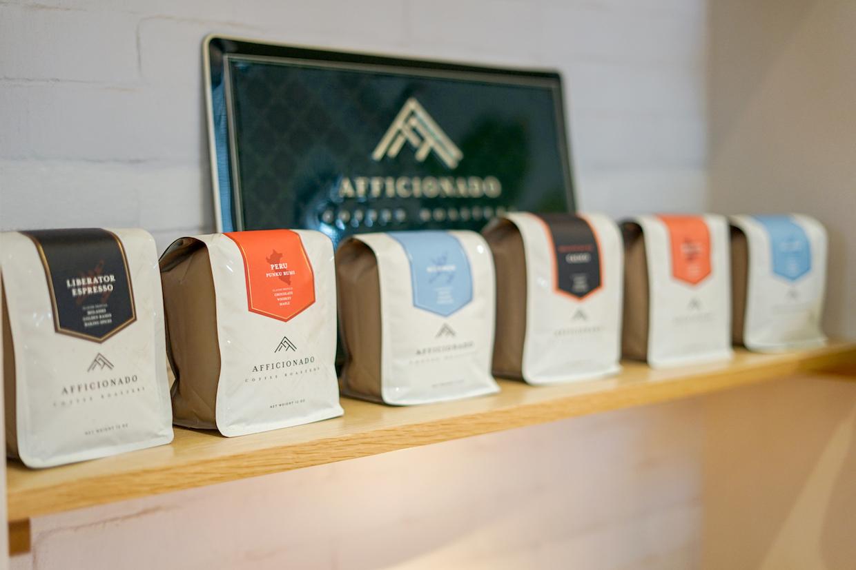Afficionado Coffee Roasters bags