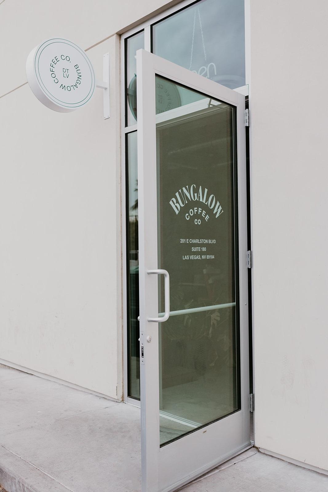 front door Bungalow Coffee
