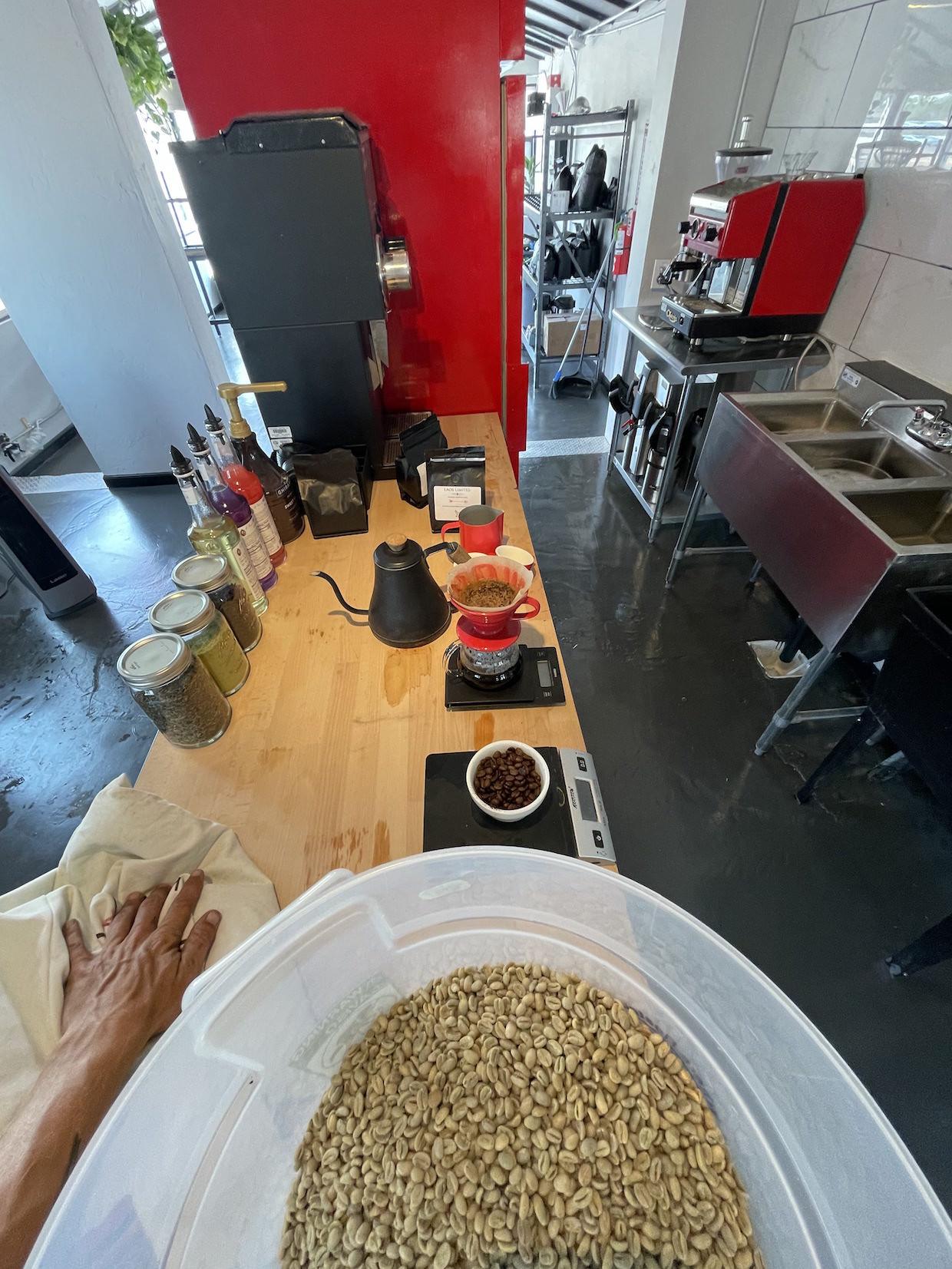 glass arrow coffee roaster