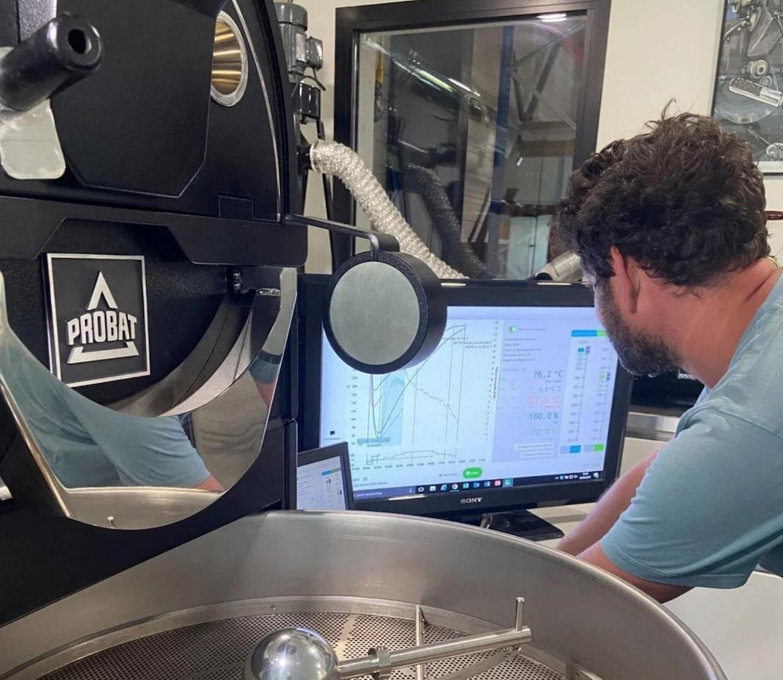 Jérémie Vergne coffee cropster probat