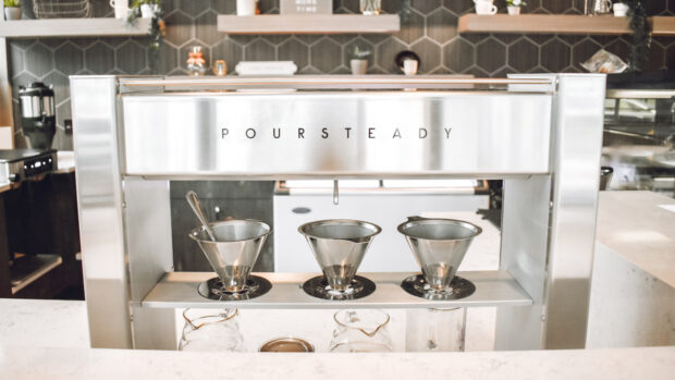 Poursteady coffee