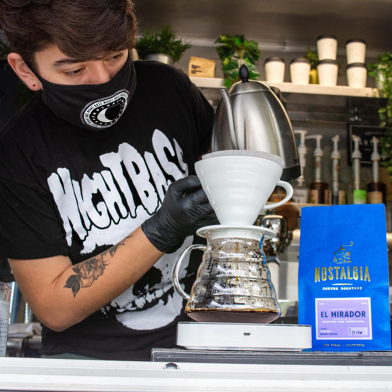 Nostalgia Coffee San Diego pourover