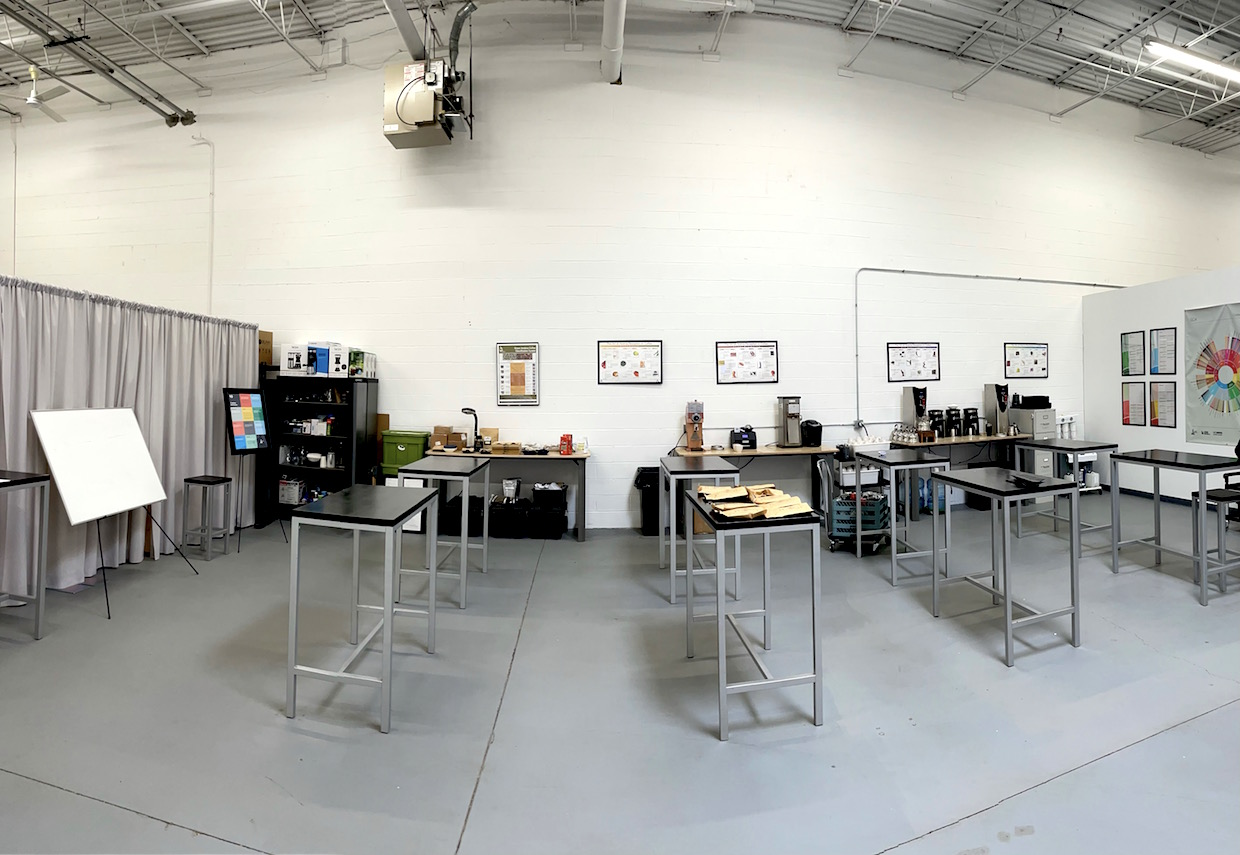 coffee cupping room