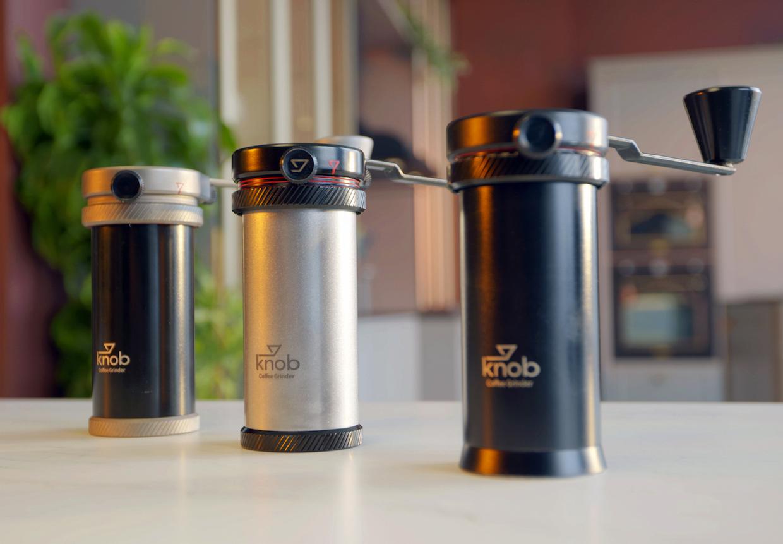 Molinillo de café con botón giratorio