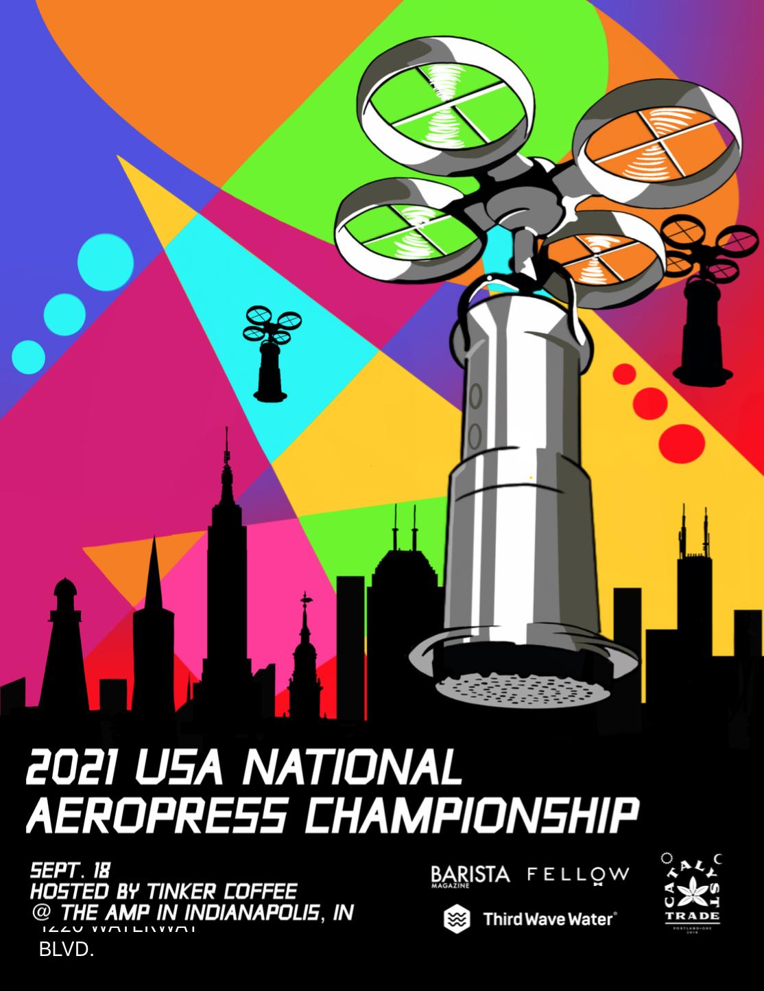 US National Aeropress championship poster