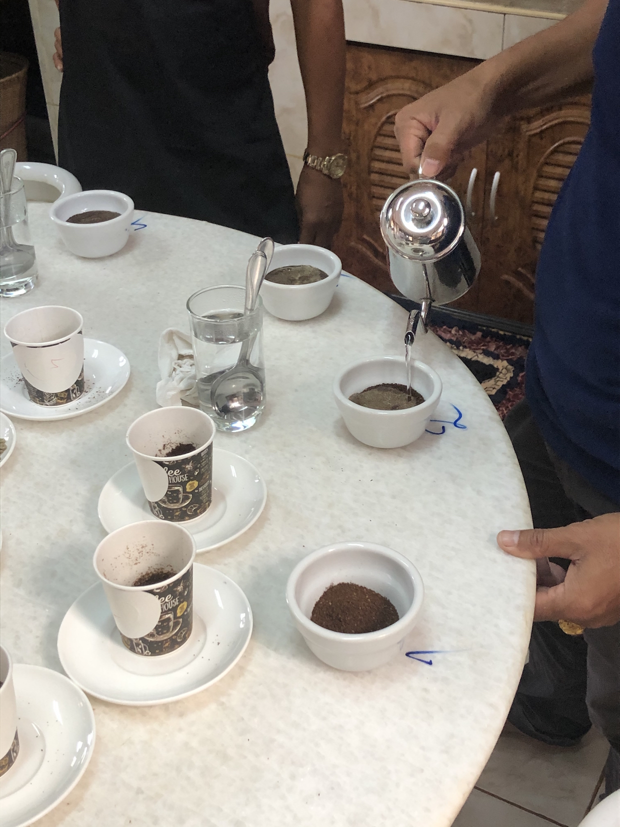 coffee cupping in laos