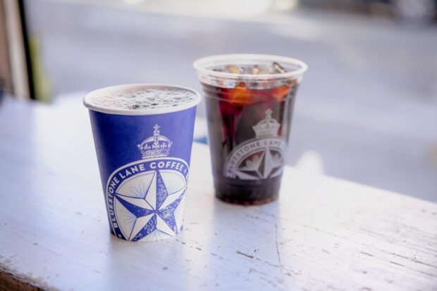 Bluestone Lane Coffee drinks