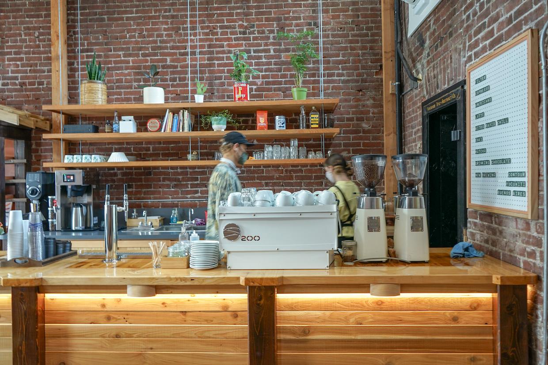 Proyecto de café en terreno